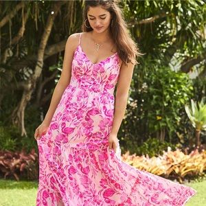 Lilly Pulitzer Pink Melody Maxi Dress, Size 00